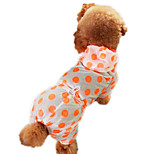 Dog Hoodie Green / Blue / Yellow / Purple / Orange Summer Polka Dots Fashion