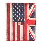 caso de cuero de la bandera ranura de la cubierta del caso tarjeta de bolsillo americano o británico para HTC M9
