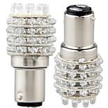 2t25 1157 45-ledede 100-200lm 6000K hvidt lys LED pære til bil (12V, 2 stk)