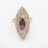 Women's European Fashion Personality Rhombic Shiny Rhinestone Ring