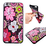 Flowers Pattern Black TPU Soft Case Phone Case for iPhone 6 Plus/6S Plus