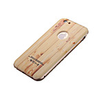 Light Colored Wood Pattern / Metal Frame /PC 3D Background Mobile Phone Case for iPhone6/6S