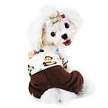 Dog Clothes/Jumpsuit Green / Brown / Yellow Winter / Spring/Fall Cartoon Fashion / winnie the pooh