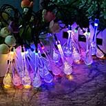 מלך ro אורות מחרוזת סוללת טיפת 40led קריסטל מים חיצונית, גנים, בתים, חתונה, מסיבת חג המולד, עמיד למים