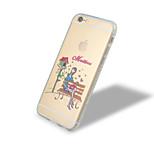 Stadt Mädchenserie drei Diamantrahmen tpu mit rückseitigem Fall für iphone6 plus / 6s Plus