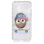 Owl Pattern On The Half-Slip TPU Phone Case for iPhone SE