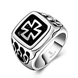 Ring Non Stone Cross Halloween Wedding Party Daily Casual Jewelry Steel Men Ring 1pc,8 9 10 11 Silver
