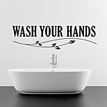 Wall Stickers Wall Decals Style Wash English Words & Quotes PVC Wall Stickers