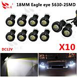 10 x 9w johti Eagle Eye kevyt auto sumu huomiovalot päivällä kääntää backup pysäköinti signaali musta 12v