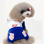 Dog Jumpsuit Red / Blue Spring/Fall Fashion
