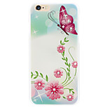 Rich pink diamond flower phone shell painted reliefs apply for iPhone 6 plus|6s plus