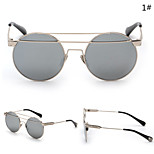 Sunglasses Women's Retro/Vintage / Fashion Round Black / Silver / Gold Sunglasses Full-Rim