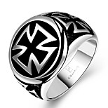 Ring Jewelry Stainless Steel Steel Cross Black Jewelry Party Halloween Daily Casual Christmas Gifts 1pc