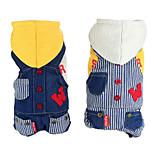 Dog Hoodie White / Yellow Spring/Fall Jeans / Stripe Fashion