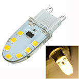 Luces LED de Doble Pin Decorativa / Regulable Marsing Luces Empotradas G9 3W 14 SMD 2835 200-300 lm Blanco Cálido AC 100-240 V 1 pieza
