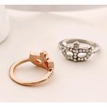 HUALUO®Fashion Jewelry rings bohemian diamond flower mask ring