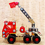 Red Fire Ladder Truck  Puzzles Magical Alloy Model DIY Toys Modeling Toys