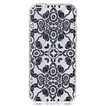 Black Flowers Pattern On The Half-Slip TPU Phone Case for iPhone SE