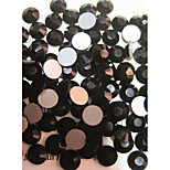 1440pcs/pack  Black Colors Rhinestones DIY Crystal Glass Designs Nail Art  3d Decoration Diamond NC243