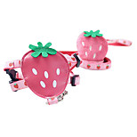 Dog Harness / Leash Adjustable/Retractable / Strawberry / Cartoon Design Pink / Yellow Nylon