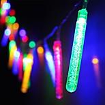 kuningas ro uusi 30led paristokäyttöinen vettä kupla stick johti christmas string valot (kl0061-RGB, valkoinen, lämmin valkoinen)