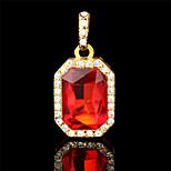 Vilam® Four Shape Luxury 18k Gold Plated Rhinestone Glass Golden Pendant