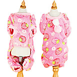 Dog Hoodie / Jumpsuit Pink Winter Classic Fashion