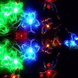 King Ro New 30LED Xmas Crystal Butterfly Decorative String Light(KL0053-RGB,White,Warm White)