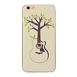 Guitar Trees Pattern TPU Soft Case Phone Case for iPhone 6/6S