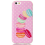 Macarons Pattern TPU Back Case for iPhone 6/6S