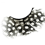 Popular Stage Artistic Exaggeration Handmade  Feather False Eyelashes  For Party Dance Halloween Party Halloween Costume