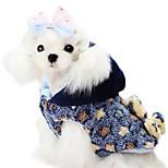 Cani Cappottini-Inverno-Di tendenza Stelle-Blu / Giallo- diCotone