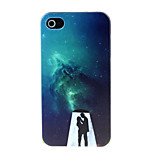 Men under the Night Pattern Hard Case for iPhone 4/4S
