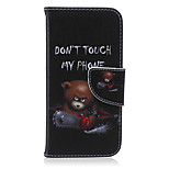 Chainsaw Bear Pattern PU Leather Material Phone Case for iPhone 6/6S