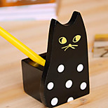 Japan Style Cute Wood Sleeping Cat Pencil Holders Pen Office Desktop Organizers Containers Home
