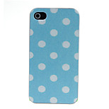 White Wave Point Pattern Hard Case for iPhone 4/4S