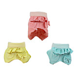 Dog Pants Green / Pink / Yellow Winter / Summer / Spring/Fall Solid Fashion