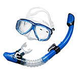Diving Masks / Snorkeling Packages / Snorkels Two-Window Adult / Unisex Glass / silicone Diving / Snorkeling Yellow / Blue / Black