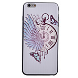 Pocket Watch Black Edging Soft TPU Phone Case for iPhone 6/6S