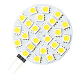 G4 4.8W 24-LED 5050 Warm White Round Shape LED Bulb