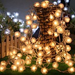 King Ro 100LED 8 Mode Battery Operated Chuzzle Ball LED Christmas String Lights (KL0075-RGB,White,Warm White)