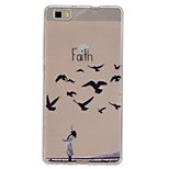 Faith Pattern Slim Relief TPU Material Phone Case for P8 Huawei Lite