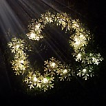 King Ro 40LED Solar Xmas Snowflake Decorative String Light(KL0032-RGB,White,Warm White)