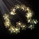kung ro 40led sol xmas snowflake dekorativa sträng ljus (kl0032-rgb, vit, varmvit)