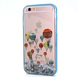 Hot air Balloon Call Flashing TPU + PC Phone Case Combo for iPhone 6 / 6S