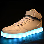 Women's LED Shoes USB charging Synthetic Fashion Sneakers Athletic/Casual Black/White