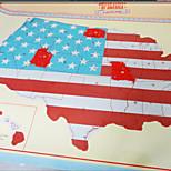Scratch Ticket Map Of The USA/America Scratch Map