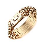 316 Titanium Steel 18K Totem Man Bracelet