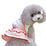 Dog Dress Yellow Summer / Spring/Fall Polka Dots Fashion