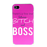 Boss Boss Pattern Hard Case for iPhone 4/4S